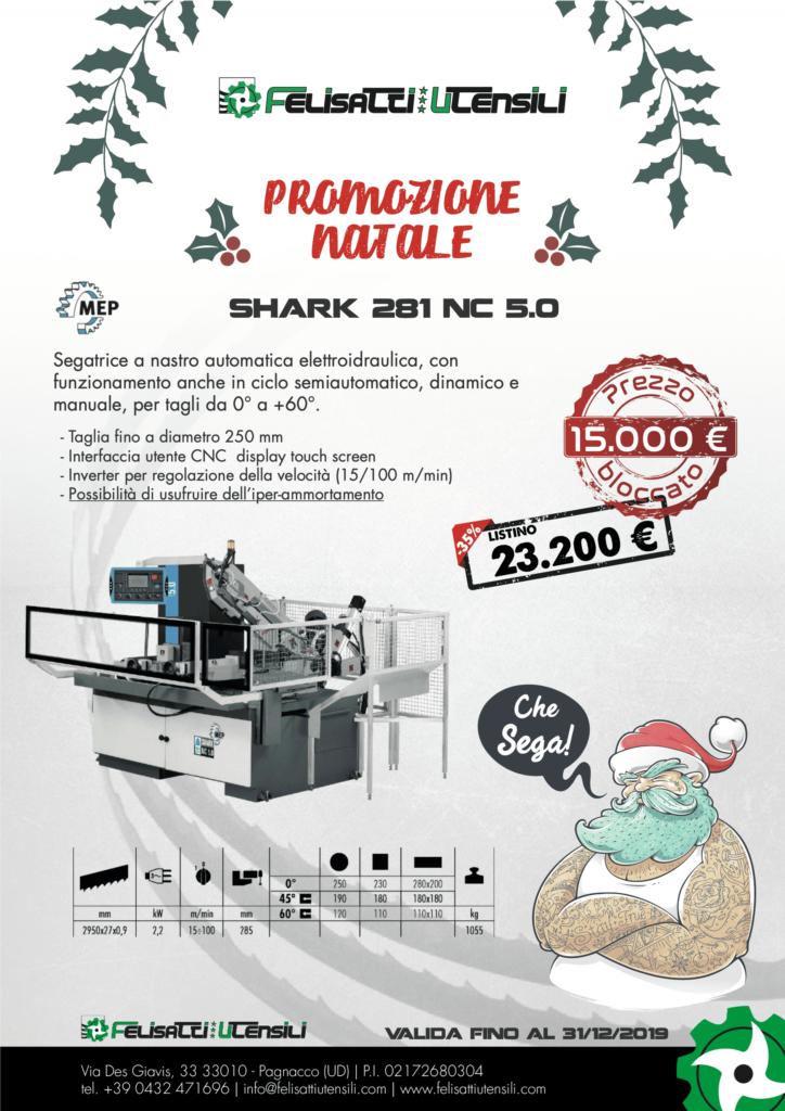 promozione MEP su segatrice a nastro automatica shark 281 nc 5.0